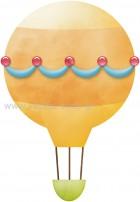 Αερόστατο Πορτοκαλί με Γιρλάντα