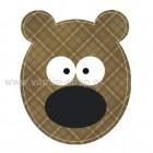 Αρκουδάκι Καρώ Καφέ