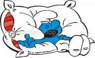 Στρουμφάκι Κοιμάται στο Μαξιλάρι του