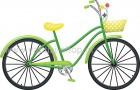 Ποδήλατο Πράσινο με Καλαθάκι