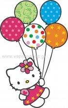 Hello Kitty με Μπαλόνια