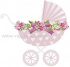 Κούνια Ροζ Floral