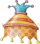 Καπέλο Αρλεκίνου Πουά Πορτοκαλί