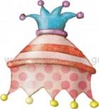Καπέλο Αρλεκίνου Πουά Ροζ
