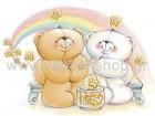 Forever Friends με Αστεράκια και Ουράνιο Τόξο