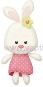 Αρκουδάκι με Ροζ Πουά Φορεματάκι
