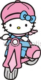 Hello Kitty με Μηχανάκι