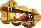 Ο Γερο-αεροπόρος με τη Φίλη του στο Αεροπλάνο