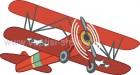 Αεροπλανάκι Vintage Κόκκινο